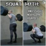 Squat myth – Knees should never go past your toes
