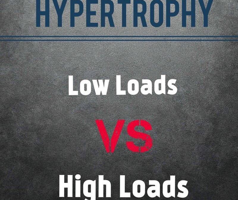 Hypertrophy: should we use low loads or high loads?